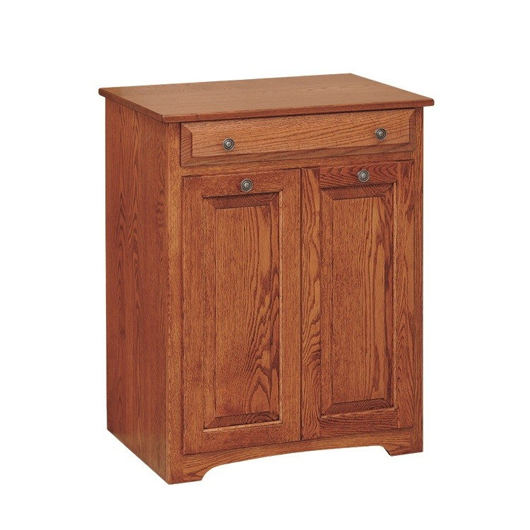 Double Trash Bin With Drawer ...