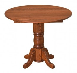 "36"" Round Drop-leaf Table"