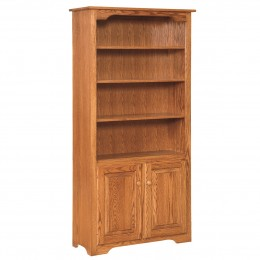 Shaker 6' Bookcase With Lower Doors