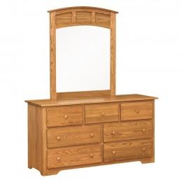 Annville Shaker Dresser & Curved Mirror