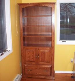 Custom Oak Storage Cabinet