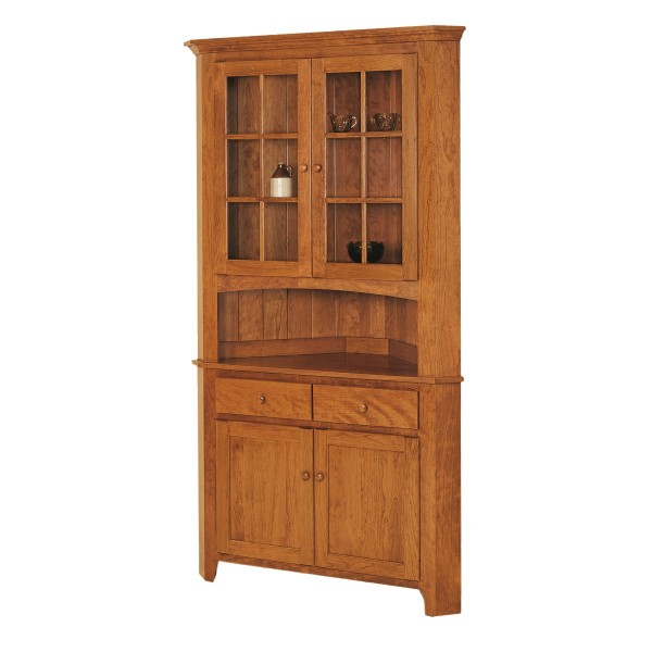 Corner Cabinet Dining Room Hutch: Locally Handcrafted Dining Hutch - Country Lane