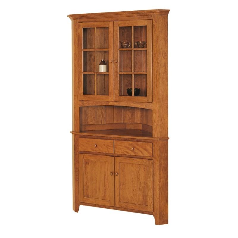 Shaker Corner Hutch | Solid Hardwood Furniture | Locally