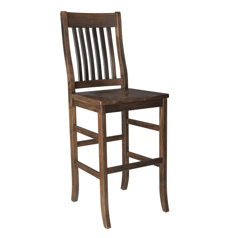 Lincoln 30 Bar Chair Solid Hardwood Furniture Country Lane Furniture Pa Nyc Nj Md Dc