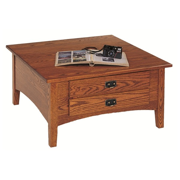 Solid Oak Square Coffee Table Mission Square Coffee Table Country Lane Furniture