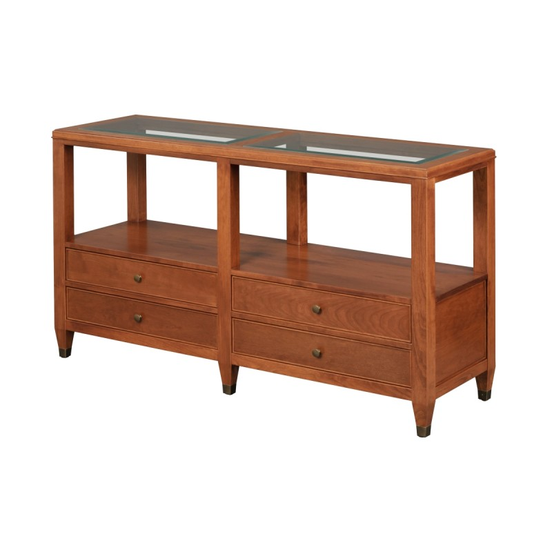 Marseille Glass Top Sofa Table Amish Marseille Glass Top