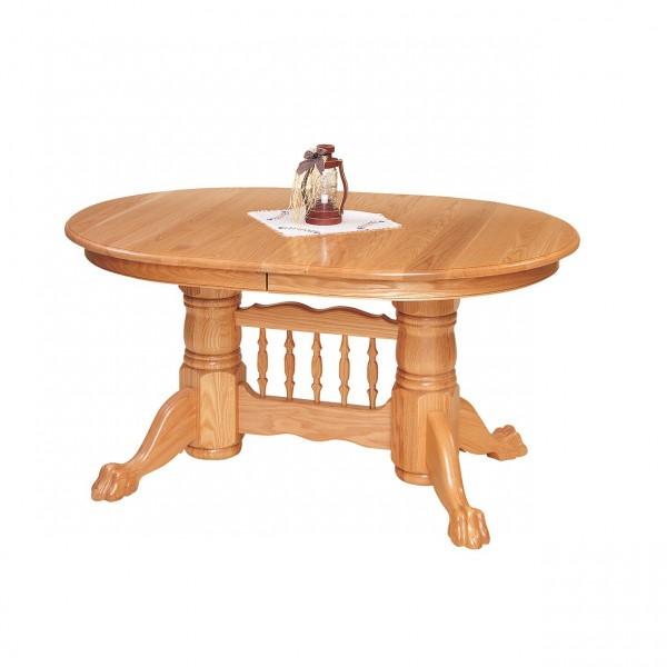 Lancaster Double Pedestal Table Locally Handcrafted Furniture Solid Hardwood Furniture