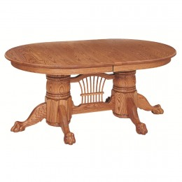 Brookville Double Pedestal Table