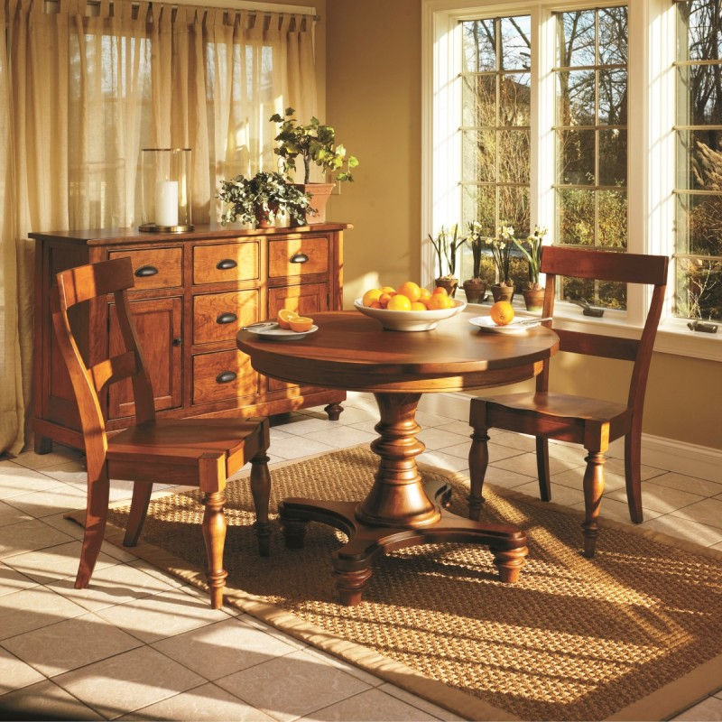 Montego Bay Dining Set Amish Handcrafted Tables Solid Hardwood Furniture Country Lane