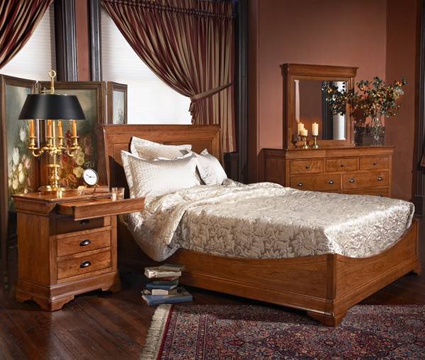 Versailles Bedroom Setting Cherry French Style Bedroom