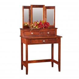 Shaker Vanity Table & Mirror