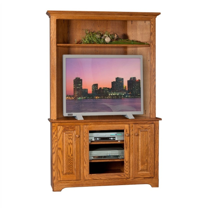 Corner TV Stand & Hutch | Amish Corner TV Stand & Hutch - Country ...