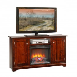 "Contemporary 61"" TV Stand With Fireplace"