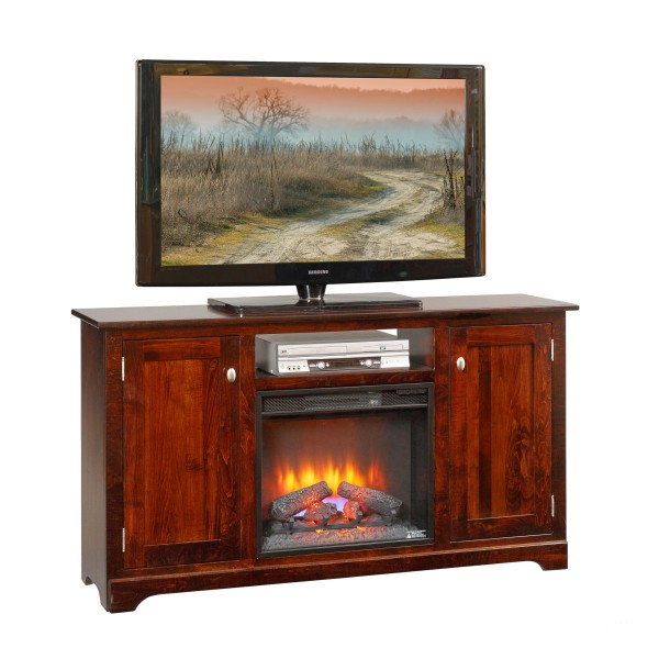 """Contemporary 61"""" TV Stand With Fireplace"""