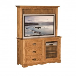 Traditional TV Stand & Hutch