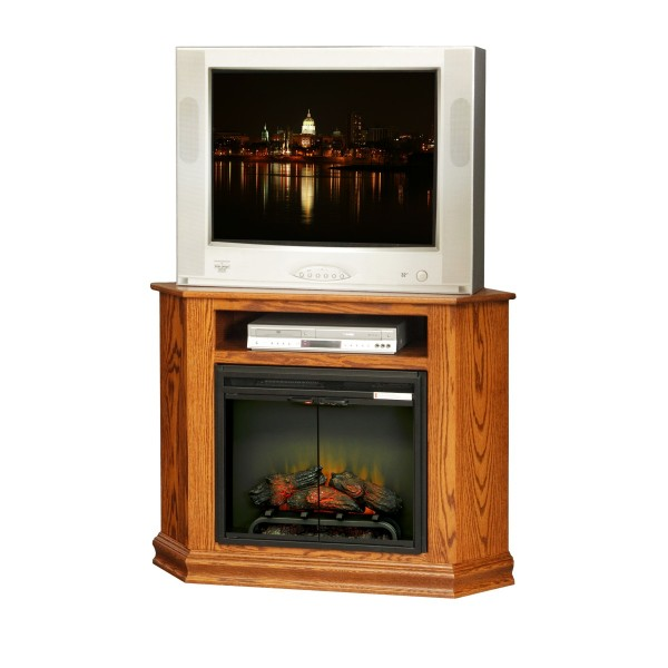 Small Corner TV Stand With Fireplace