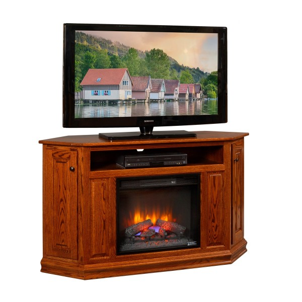 Corner TV Stand With Fireplace