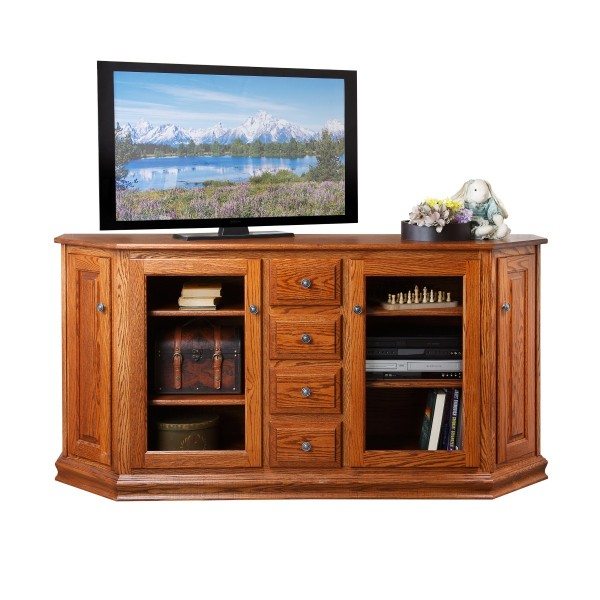 Traditional Canted TV Stand