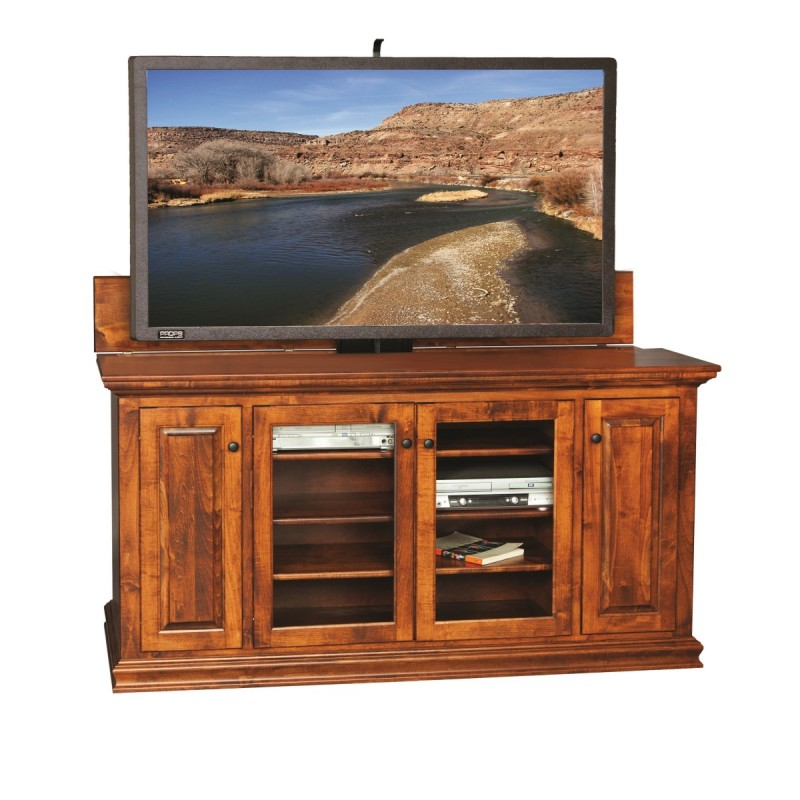 tv cabinet w lift amish tv stand with lift country. Black Bedroom Furniture Sets. Home Design Ideas