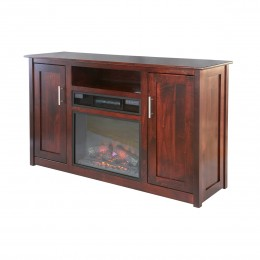"Modern 58"" TV Stand With Fireplace"