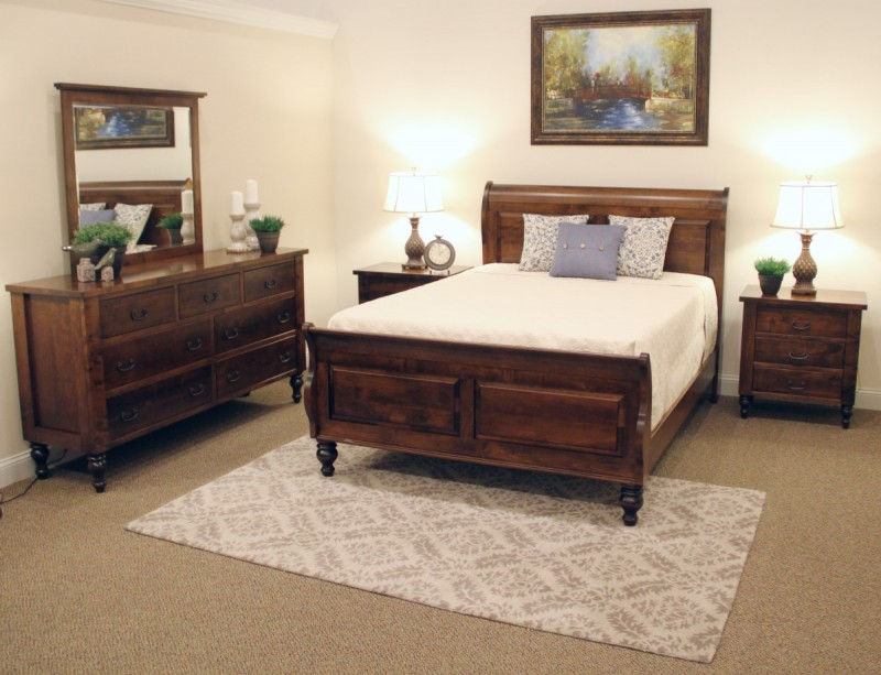 Amish Made Bun Foot Bedroom