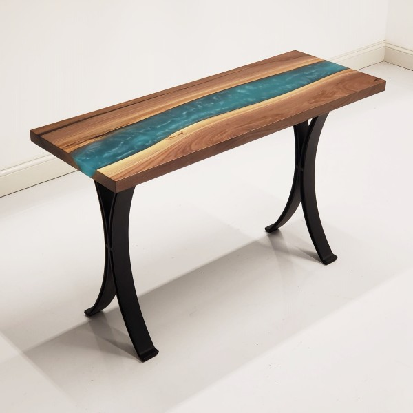Walnut & Epoxy River Hall Table
