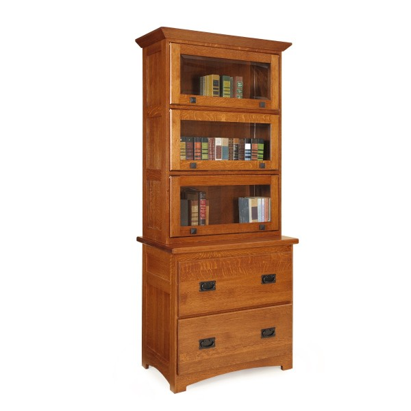 Mission File Cabinet & Barrister Hutch