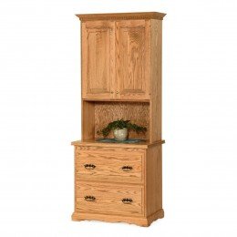 Traditional File Cabinet & Hutch