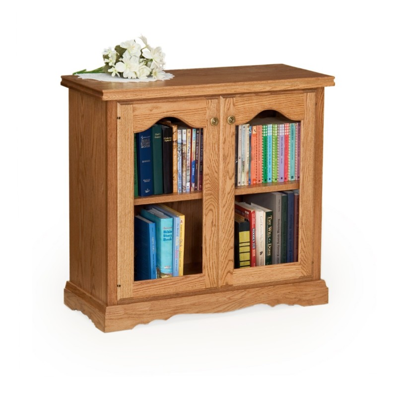 Traditional 30 Bookcase With Doors Amish Traditional 30