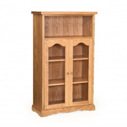 "Traditional 53"" Bookcase With Doors"