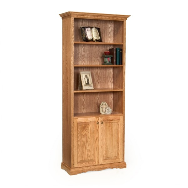 "Traditional 78"" Bookcase With Doors"