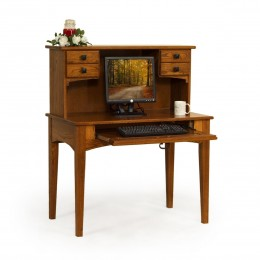"Small 40"" Writing Desk & Hutch"