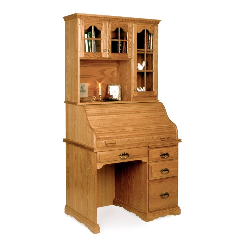 Small 40 Quot Roll Top Desk Amp Hutch Amish Small 40 Quot Roll Top