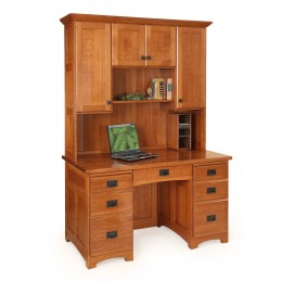 "Mission 55"" Desk & Hutch"