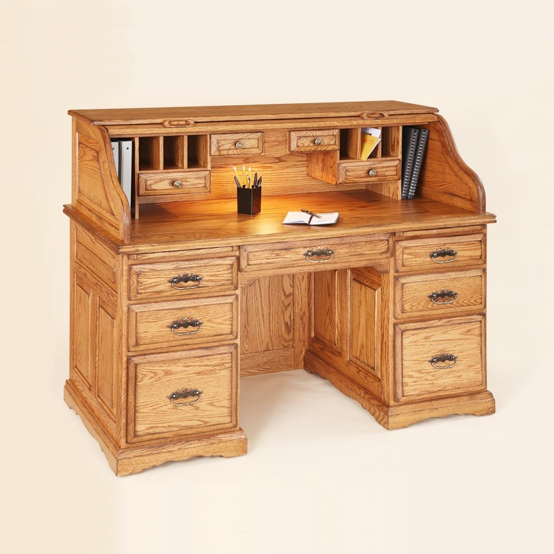 55 Roll Top Writing Desk