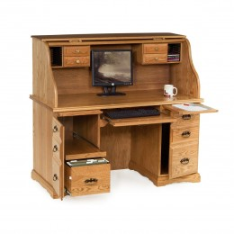 "55"" Roll Top Computer Desk"