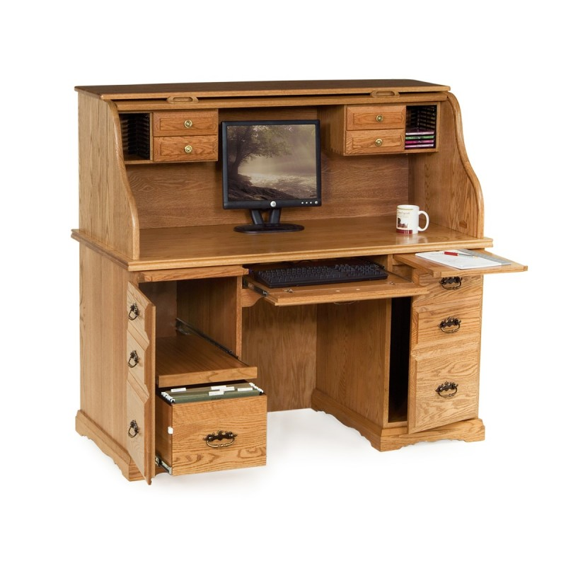 Awesome Roll Top Computer Desk Style