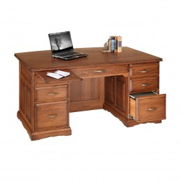 "Traditional 70"" Bow Front Desk"