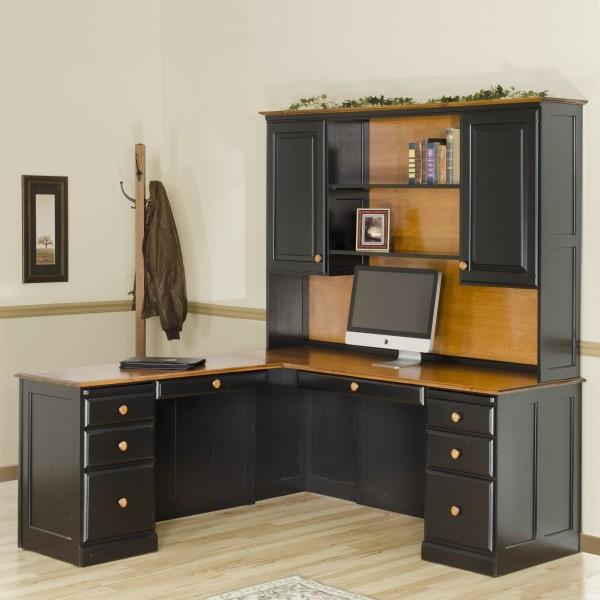 Traditional Corner Desk & Hutch