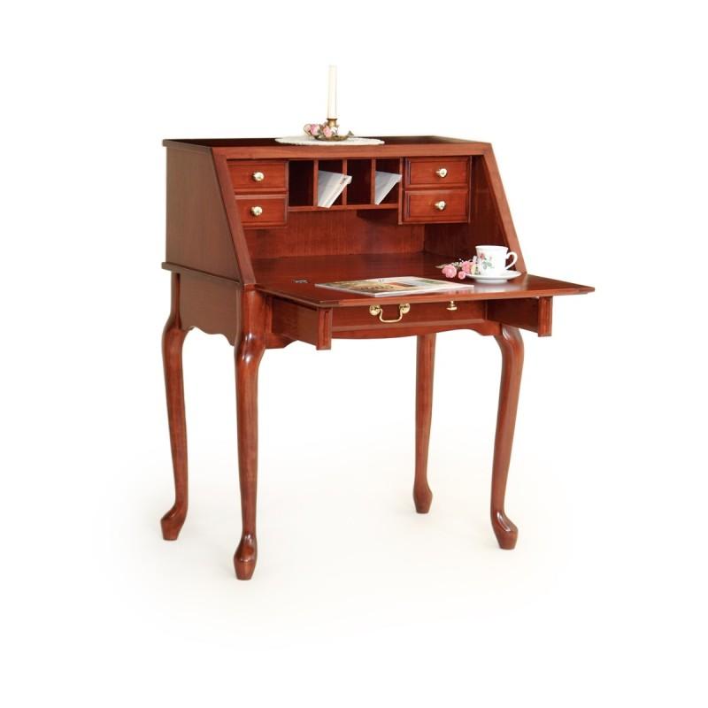 Queen Anne Secretary Desk Amish Queen Anne Secretary