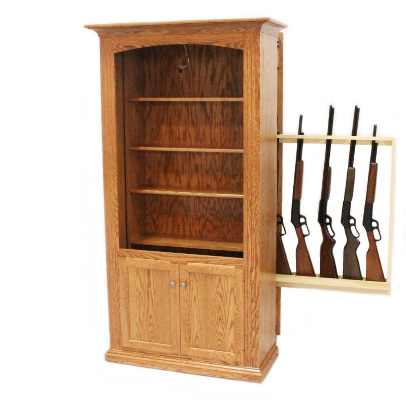 Delicieux Hidden Gun Storage Bookcase