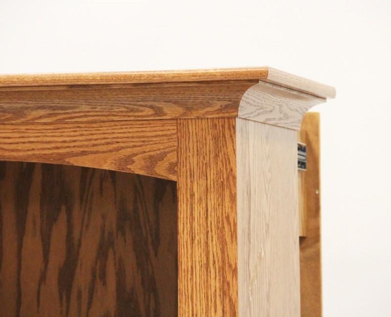 Hidden Gun Storage Bookcase   Amish Gun Cabinet   Oak ...