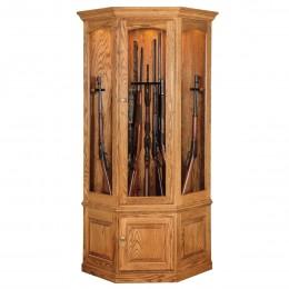 Black Forest 14 Gun Corner Cabinet