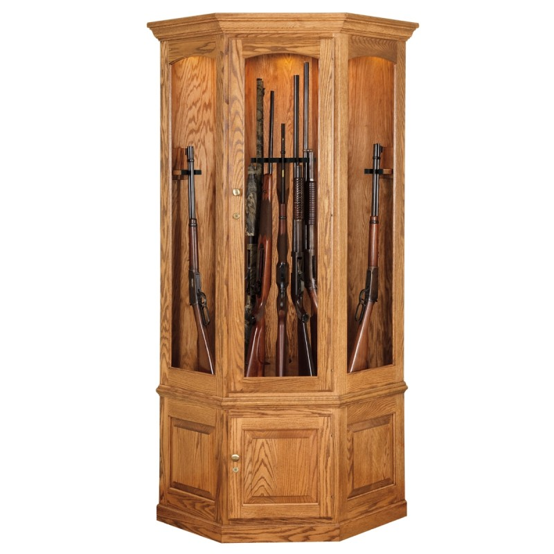 how to build a gun cabinet in the wall