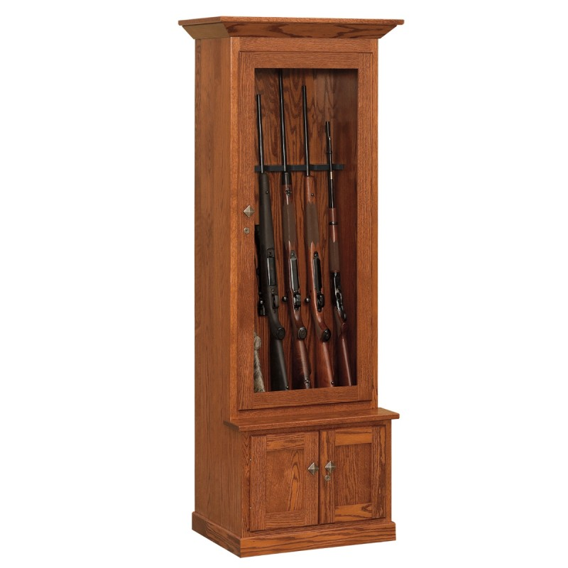 Deer Creek 6 Gun Cabinet | Amish Made Gun Cabinet - Country Lane ...