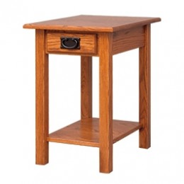 Mission Chairside Table with Shelf