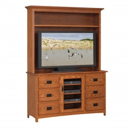 "Mission 56"" TV Stand & Hutch"
