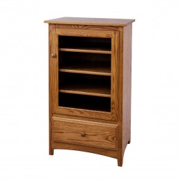 Shaker Stereo Cabinet With Drawer