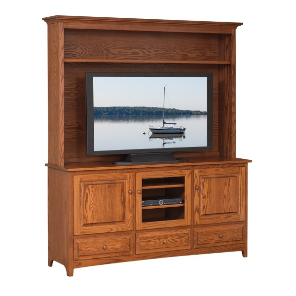 Shaker 66 tv stand hutch amish shaker 66 tv stand for Furniture 66 long lane liverpool