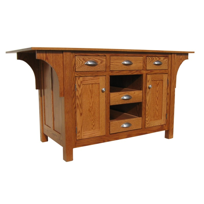 Kitchen Island Furniture Product: Amish Mission Kitchen Island